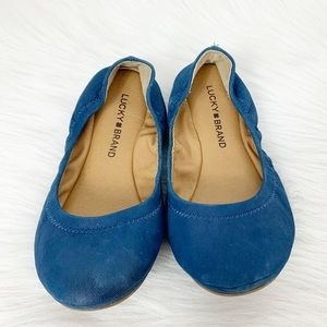 Lucky Brand Shoes - Lucky Brand Emmie Ballet Flats Blue Suede …